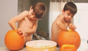 Halloween ideas like carving jack-o-lanterns are great for celebrating with your kids post-divorce.