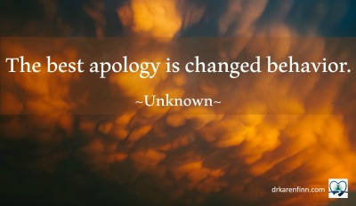 Meme for the best apology quote.