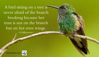 Meme for bird sitting quote.